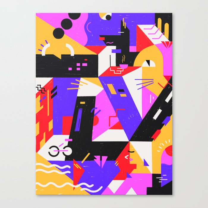 Multi-dimensional city Canvas Print