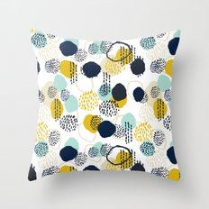 Jamm - abstract art painting brushstrokes modern minimal paint trendy colors hipster gender neutral  Throw Pillow