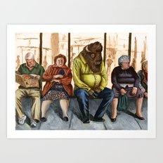 Hard day for a Buffalo 2 Art Print