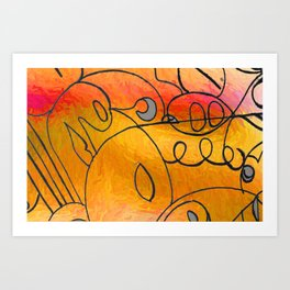 Curves at Sunset Art Print