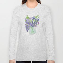 Sweet Pea Flowers Long Sleeve T-shirt