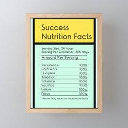 Success Nutrition Facts Framed Mini Art Print