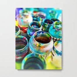 Paint jars Metal Print