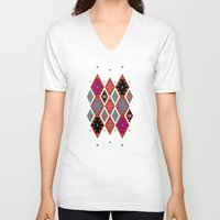 bohemian V-neck T-shirts featuring bohemian by spinL