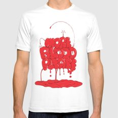 More Blood Please Mens Fitted Tee White MEDIUM