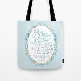 Peace I Leave with You - John 14:27 Tote Bag