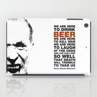 bukowski iPad Cases featuring beer&bukowski by radiozimbra
