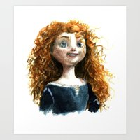 merida Art Prints featuring Merida by Alex Nunez