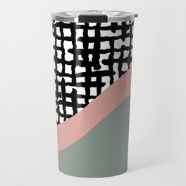 Hand drawn Geometric Line Pattern Travel Mug