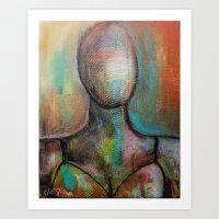 FACELESS IV Art Print