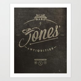 """Jones' Rare Antiquities"" - wall version Art Print"