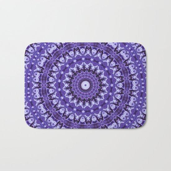 Kaleidoscope Purple Silk Bath Mat