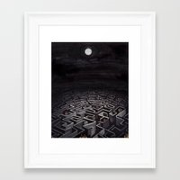 labyrinth Framed Art Prints featuring Labyrinth by Richard J. Bailey