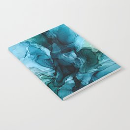 Salty Shores Abstract Painting Notebook