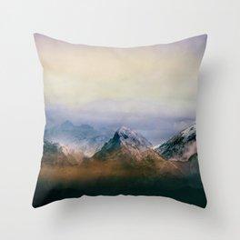 Mountain Peaks II Throw Pillow