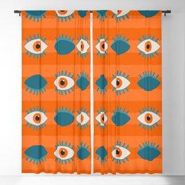 Orange Eye Blackout Curtain