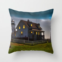 The Lights are on at Pemaquid Throw Pillow