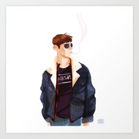 finn Art Prints featuring Finn by Galaxyspeaking