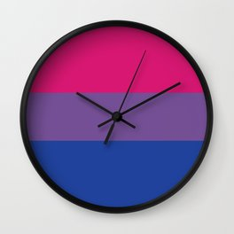 Bisexual Flag Wall Clock