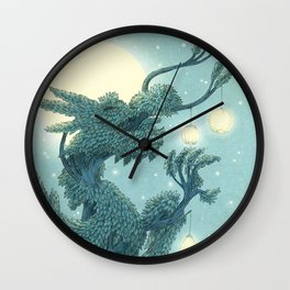 The Night Gardener - The Dragon Tree, Night Wall Clock