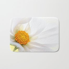 Cosmea white macro 060 Bath Mat