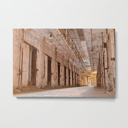 Glowing Prison Corridor Metal Print