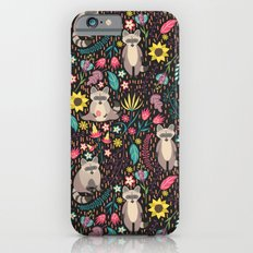 Raccoons bright pattern Slim Case iPhone 6