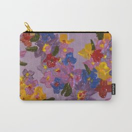 Textured Flowers I Carry-All Pouch