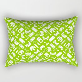Control Your Game - White on Lime Rectangular Pillow