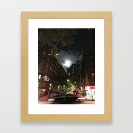 Washington Heights Lit Framed Art Print