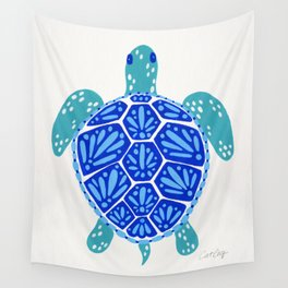 Sea Turtle – Blue Palette Wall Tapestry