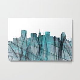 Baltimore, Maryland Skyline - Turquoise Storm Metal Print