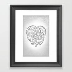 Light of the Love Framed Art Print