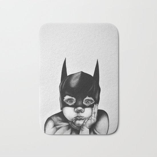 Waiting For a Hero (Bat Boy) Bath Mat