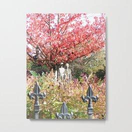Spooky Yard Metal Print