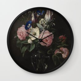 Flower Vase, Jan Brueghel the Elder Wall Clock