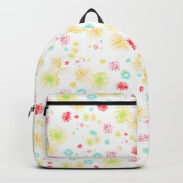 yellow fire works Backpack