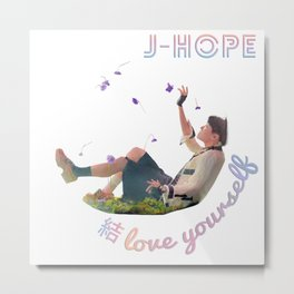 BTS Love Yourself Answer - JHope Metal Print