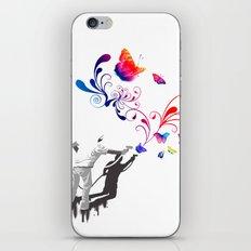 Nature's comeback graffiti iPhone & iPod Skin