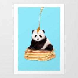 PANCAKE PANDA Art Print
