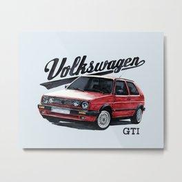 Volkswagen Golf GTI mk2 Metal Print