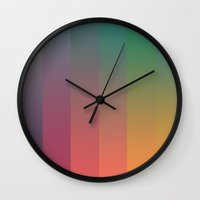 70s Wall Clocks featuring 70s Spectrum by Robert Payton