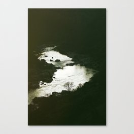 I'll be here at the waters edge Canvas Print