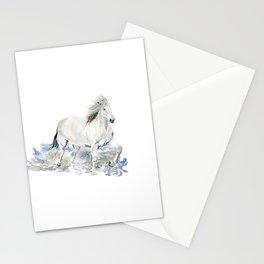Wild White Horse Stationery Cards