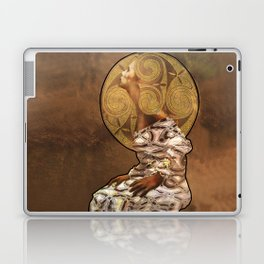 Woman with Golden Hair,mixed media. Laptop & iPad Skin