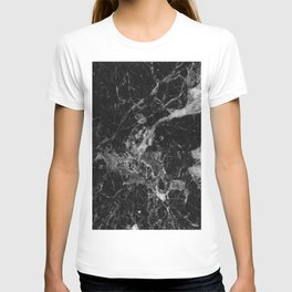 Black and Gray Marble Pattern T-shirt