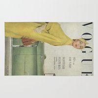vogue Area & Throw Rugs featuring VOGUE 1950 by SUNLIGHT STUDIOS  Monika Strigel