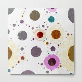Modern Soft palette Dot Pattern Metal Print