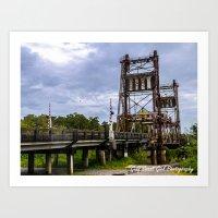 Lonely Bridge Art Print