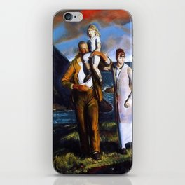 Fisherman's Family at the Coast by George Wesley Bellows iPhone Skin